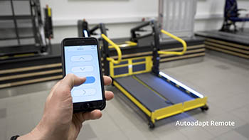 The BraunAbility Remote smartphone app with a Q-Series wheelchair lift in the background