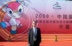 Peter Wahlsten in Beijing during the exhibition.