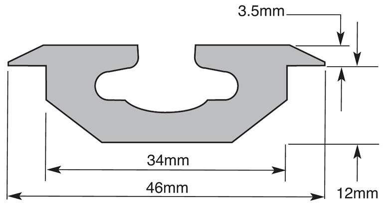 Low profile rail with measurements