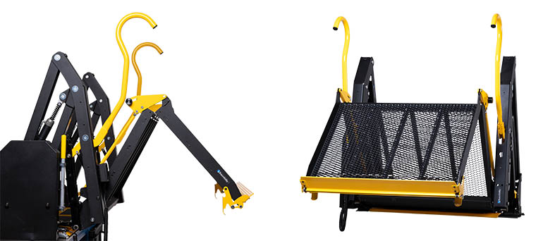 Wheelchair lift with folding platform