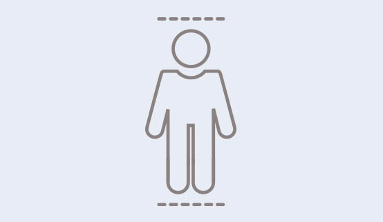 A symbol showing a person of short stature.