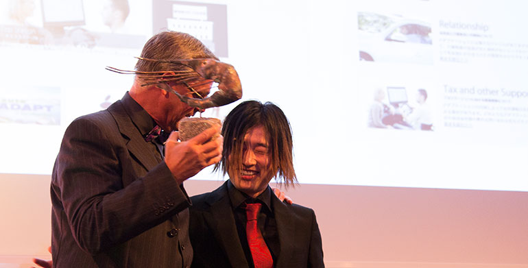 A speechless Kazuki Kori from Office Shimizu accepted the award he spent two years working hard to take home.