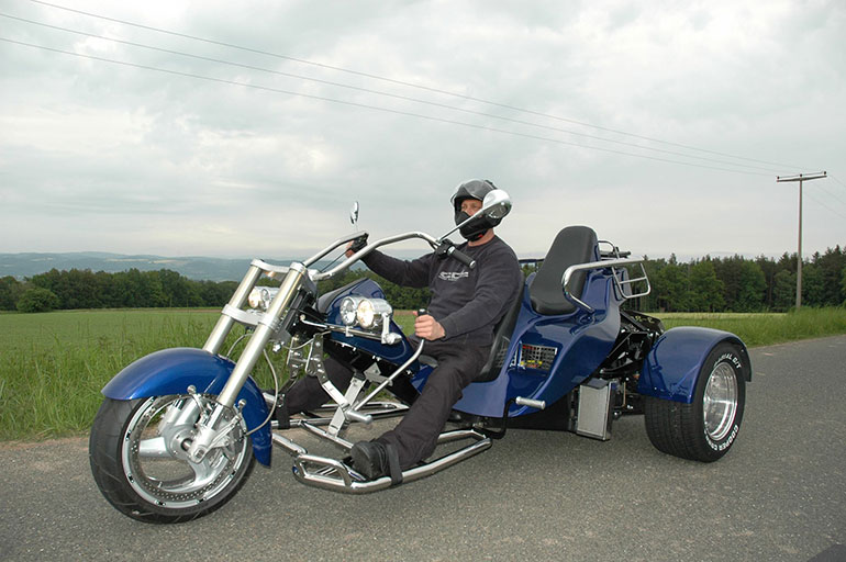 Thorsten Limbach on his adapted Trike