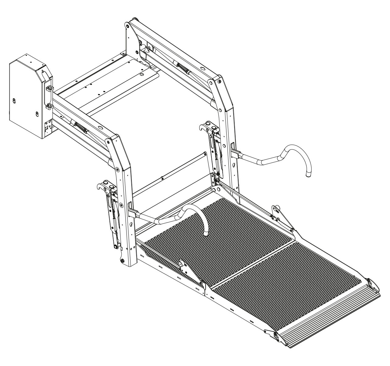 Illustration of an E-1500 folding lift