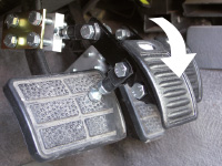Extended car pedal