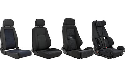 Various aftermarket car seats.