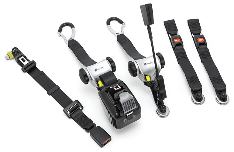 Kit with five tie-downs
