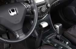 The Menox hand controls are designed to harmonize with the car's interior.