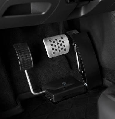 A left foot accelerator pedal