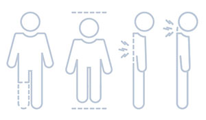 Illustration of figures with different health conditions