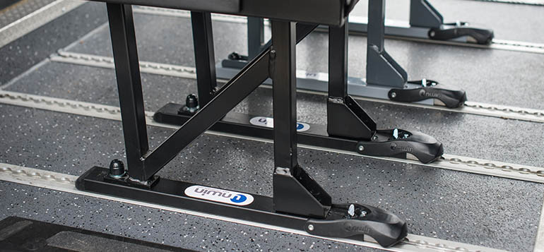 Seat legs attached to the vehicle floor